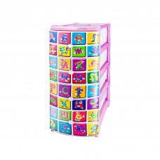 Комод Elfplast Алфавит №3 Розовый