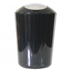 Ведро для мусора Axentia пластик черный 5 л