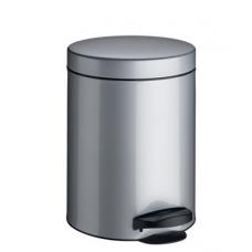 Ведро для мусора Meliconi матовый стальной 5 л
