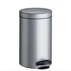 Ведро для мусора Meliconi матовый стальной 14 л
