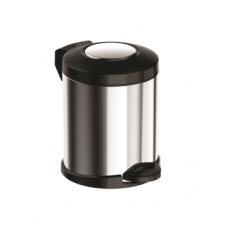 Ведро для мусора Meliconi матовый сталь 5 л