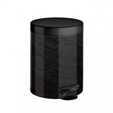 Ведро для мусора Meliconi мрамор черный 5 л