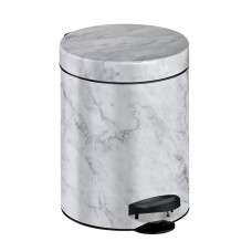 Ведро для мусора Meliconi мрамор белый 5 л