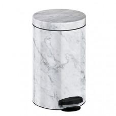 Ведро для мусора Meliconi мрамор белый 14 л